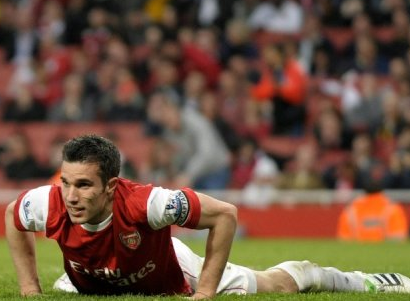 RVP and Arsenal down and all but out